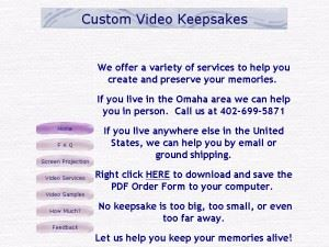 Custom Video Keepsakes