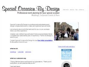 Special Occasion By Design