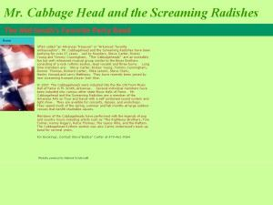 Mr. Cabbage Head And The Screaming Radishes