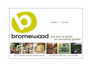 Bromewood flower and garden