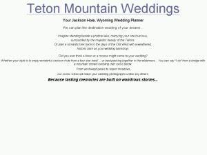 Teton Mountain Weddings