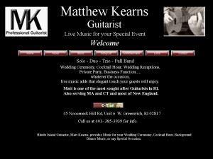 Matthew Kearns Guitarist
