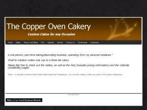 The Copper Oven Cakery