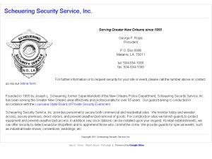 Scheuering Security