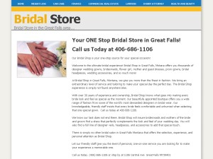 Bridal in Great Falls Area BGFA