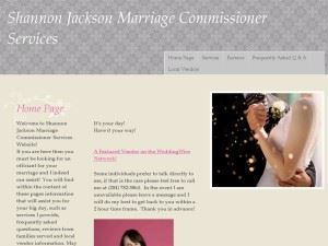 Shannon Jackson Marriage Commissioner Services