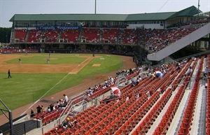 Five County Stadium - Carolina Mudcats